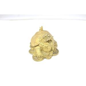 龍亀 ロングイ 小物入れ 銅製置物|ryu|05