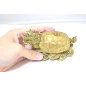 龍亀 ロングイ 小物入れ 銅製置物|ryu|06