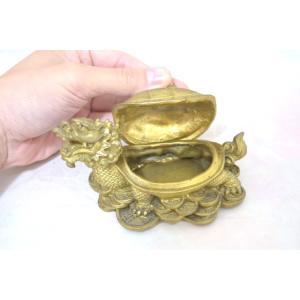 龍亀 ロングイ 小物入れ 銅製置物|ryu|07