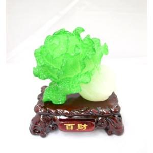 白菜 金運 健康運 樹脂製置物 インテリア 中|ryu