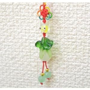 【メール便OK】 白菜 ストラップ 百才 百財 樹脂製 中国ひも 中|ryu
