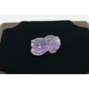貔貅 ヒキュウ アメジスト 紫水晶 パワーストーン 天然石パーツ ペンダントトップ 2.7cm|ryu