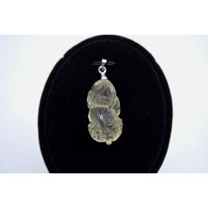 貔貅 ヒキュウ シトリン 黄水晶 パワーストーン 天然石パーツ  ペンダントトップ 3cm|ryu