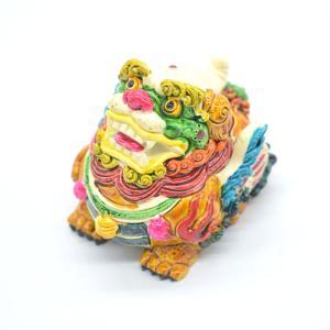 貔貅 ヒキュウ カラフル 樹脂製置物 彩色済み 6.5cm|ryu