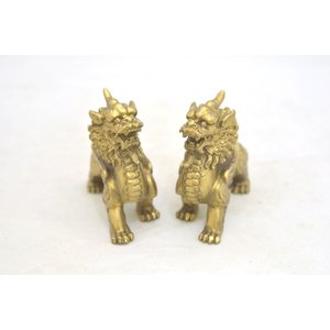 貔貅 ヒキュウ ペア 銅製置物 小 金運 財運 商売繁盛|ryu