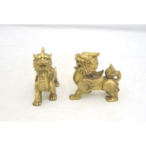 貔貅 ヒキュウ ペア 銅製置物 小 金運 財運 商売繁盛|ryu|03
