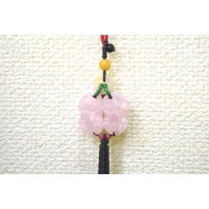 【メール便OK】 貔貅ペア ローズクオーツ 黄玉 天然石吊るし物 中 ryu 04