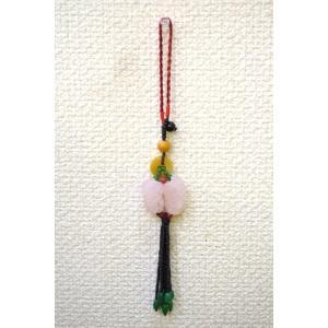 【メール便OK】 貔貅ペア ローズクオーツ 黄玉 天然石吊るし物 小|ryu