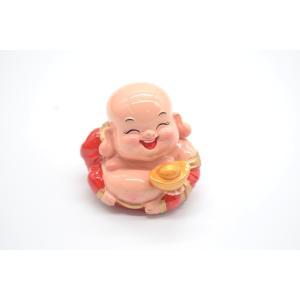 笑佛様 布袋 笑仏 元宝 樹脂製置物 カラフル マスコット 小|ryu