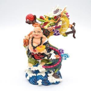裕福 財運 富の象徴 笑佛様 布袋 笑い仏 笑仏 金運 財運 ねり製置物 ryu