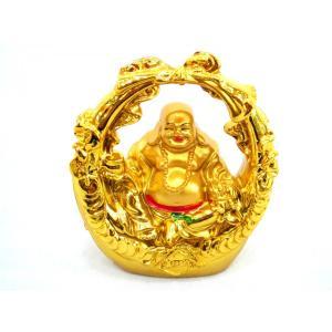 裕福 財運 富の象徴 笑佛様 布袋 笑い仏 笑仏 金運 ねり製置物 銭かご ryu