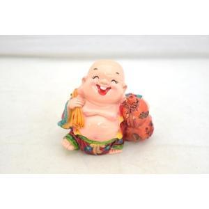 笑佛様 布袋 笑仏 瓢箪 樹脂製置物 カラフル マスコット 蓄財 中|ryu