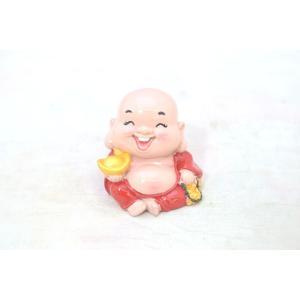 裕福 財運 富の象徴 笑佛様 布袋 笑い仏 笑仏 金運 財運 ねり製置物 小 ryu