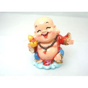 裕福 財運 富の象徴 笑佛様 布袋 笑い仏 笑仏 ねり製置物 ひょうたん 中 9cm ryu