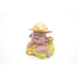 笑佛様 布袋 笑仏 彩色済み 選べる2種類 帽子つき 樹脂製置物 マスコット|ryu|12