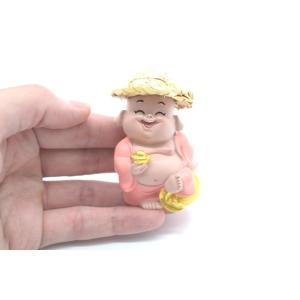 笑佛様 布袋 笑仏 彩色済み 選べる2種類 帽子つき 樹脂製置物 マスコット|ryu|10