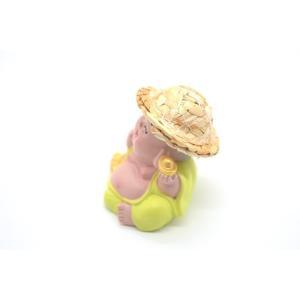 笑佛様 布袋 笑仏 彩色済み 選べる2種類 帽子つき 樹脂製置物 マスコット|ryu|02