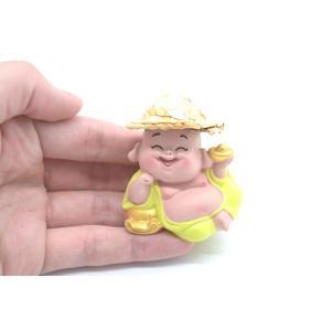 笑佛様 布袋 笑仏 彩色済み 選べる2種類 帽子つき 樹脂製置物 マスコット|ryu|05