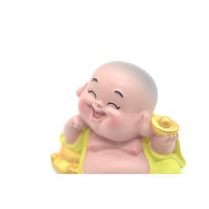 笑佛様 布袋 笑仏 彩色済み 選べる2種類 樹脂製置物 マスコット|ryu|06