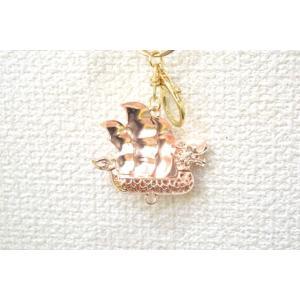 【メール便OK】 龍船 七宝焼き キーホルダー 一帆風順 金属製 赤|ryu|02
