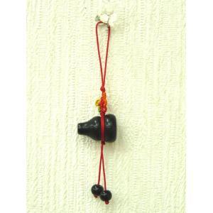 オニキス製ひょうたん 根付 魔除け 浄化 風水アイテム|ryu