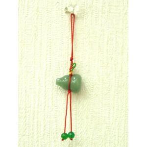 アベンチュリン製ひょうたん 根付 魔除け 浄化 健康 風水アイテム|ryu