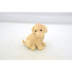戌 犬 イヌ 木彫り 木製置物|ryu