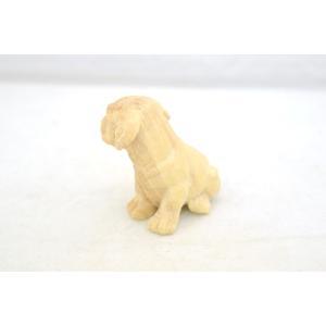 戌 犬 イヌ 木彫り 木製置物|ryu|02