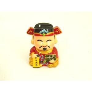 財神 利市興隆 アジアの神々 かわいい人形置物 小|ryu