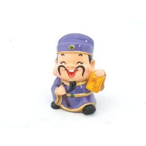 文昌帝君 満分 樹脂製置物 かわいい人形置物 アジアの神々|ryu
