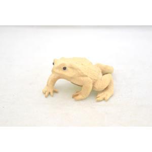 蛙 かえる カエル 木彫り 木製 置物 福返る 無事帰る|ryu