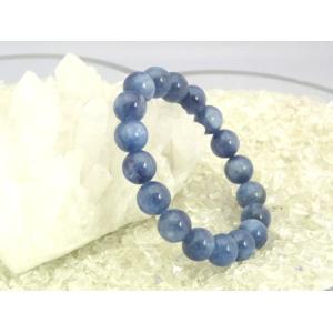 【純粋・清純・正常】カイヤナイト(カイアナイト・藍晶石)パワーストーンブレスレット【10mm玉】|ryu