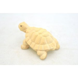 亀 カメ かめ 木彫り 木製置物 長寿 健康運 ryu 02