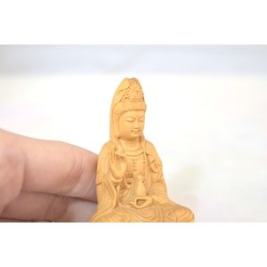 観音菩薩 仏象 木彫り製置物 苦悩を救う|ryu|06