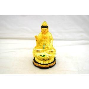 観音様 仏像 金色 樹脂製置物 小 ryu