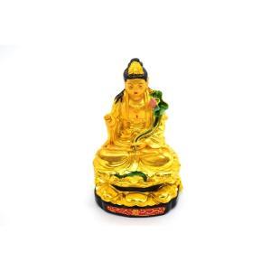 観音様 仏像 金色 樹脂製置物 小|ryu