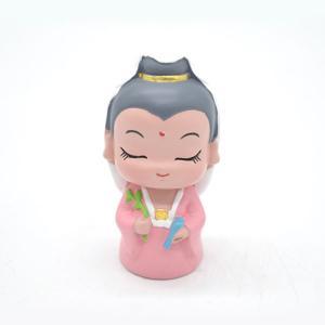 観音菩薩 樹脂製置物 マスコット人形 6.5cm|ryu