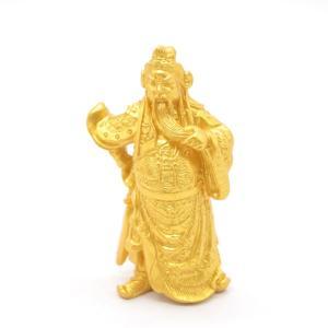 関羽 樹脂製置物 金色 商売の神様 小|ryu