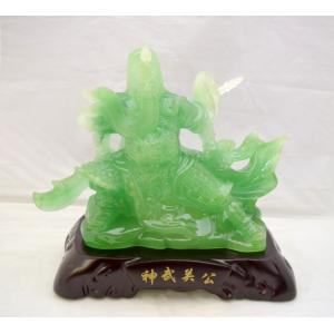 関羽 樹脂製置物 神武関公 開運 風水 ひすい風 インテリア 中 ビジネスの神様|ryu