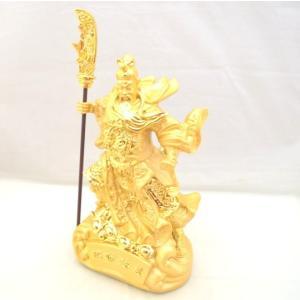 関羽 樹脂製置物 ビジネスの神様 金 中|ryu
