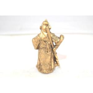 関羽 樹脂製置物 アンティーク調 商売の神様 小 ryu 03