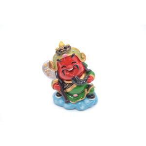関羽 アジアの神々 マスコット人形 樹脂製置物 彩色済み 9cm|ryu