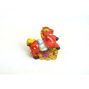 馬 カラフル 樹脂製 財運 金運|ryu