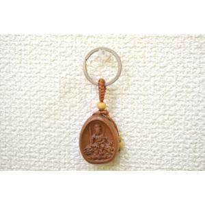 【メール便OK】文殊菩薩 仏像 木製キーホルダー  卯年 守護尊|ryu