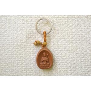 【メール便OK】大勢至菩薩 仏像 木製キーホルダー 午年 守護尊|ryu
