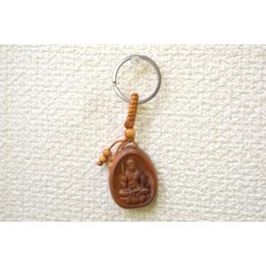 【メール便OK】不動明王 仏像 木製キーホルダー 酉年 守護尊|ryu