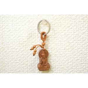 【メール便OK】仏像 キーホルダー 木製 一生平安|ryu