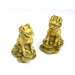 麒麟 きりん 銅製置物 雌雄ペア|ryu