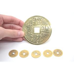 【メール便OK】 招財進寶 鯉 魚 銅製置物 古銭セット|ryu|03