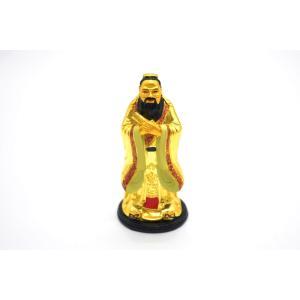 孔子 樹脂製置物 金色  台座付|ryu